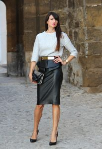 Quelles chaussures porter avec une jupe en cuir   – Blogmode ce046ad449ec